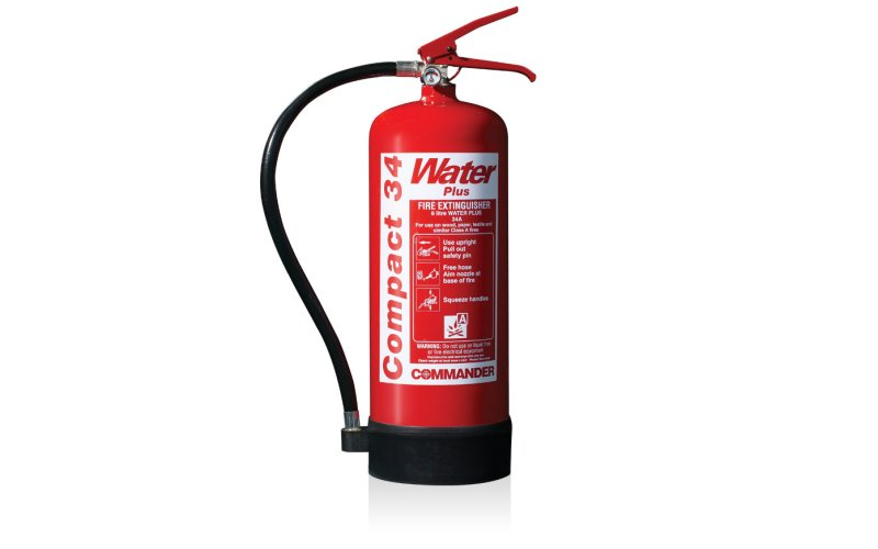 Commander EDGE 6ltr Water Compact 34 Fire Extinguisher