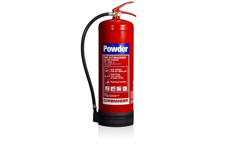 Commander 9kg ABC Dry Powder Fire Extinguisher (Med Approved)