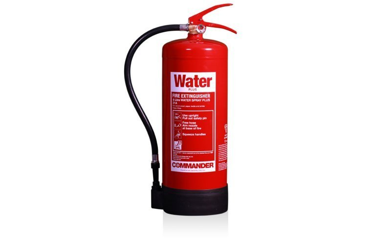 Commander 6ltr Water Plus Spray Fire Extinguisher (Med Approved)