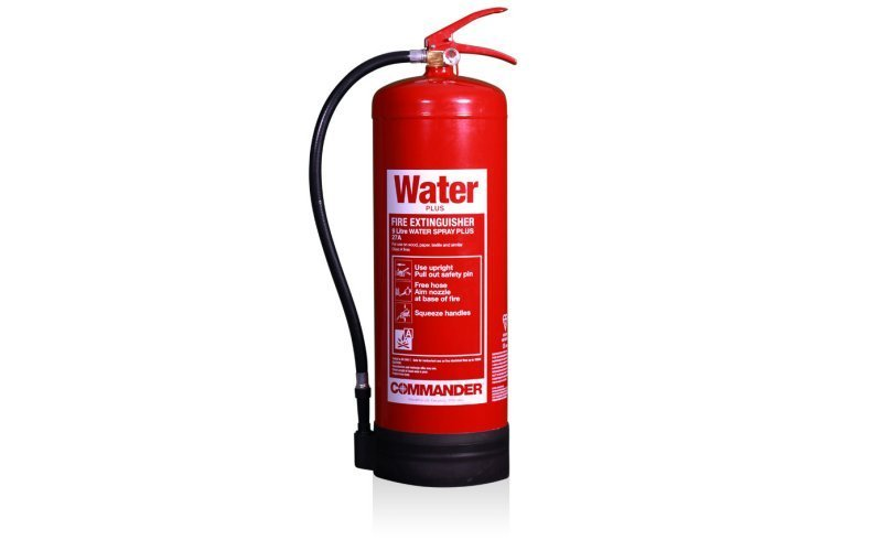 Commander 9ltr Water Plus Spray Fire Extinguisher (Med Approved)