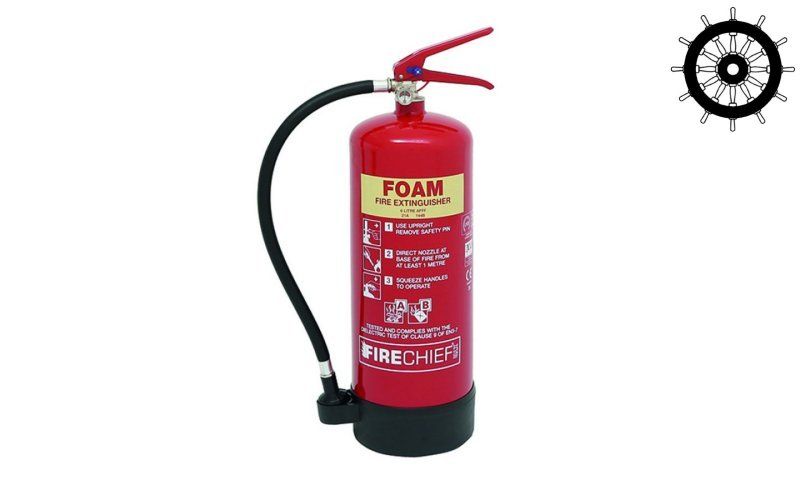 MED Approved 6ltr Foam Spray Fire Extinguisher (FXF6)