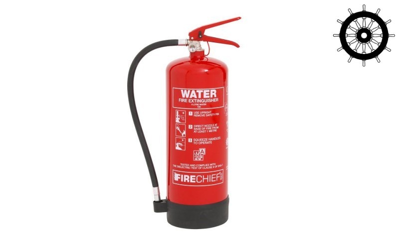 MED Approved 6ltr Water Fire Extinguisher (FXW6)