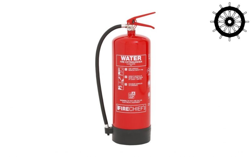 MED Approved 9ltr Water Fire Extinguisher (FXW9)