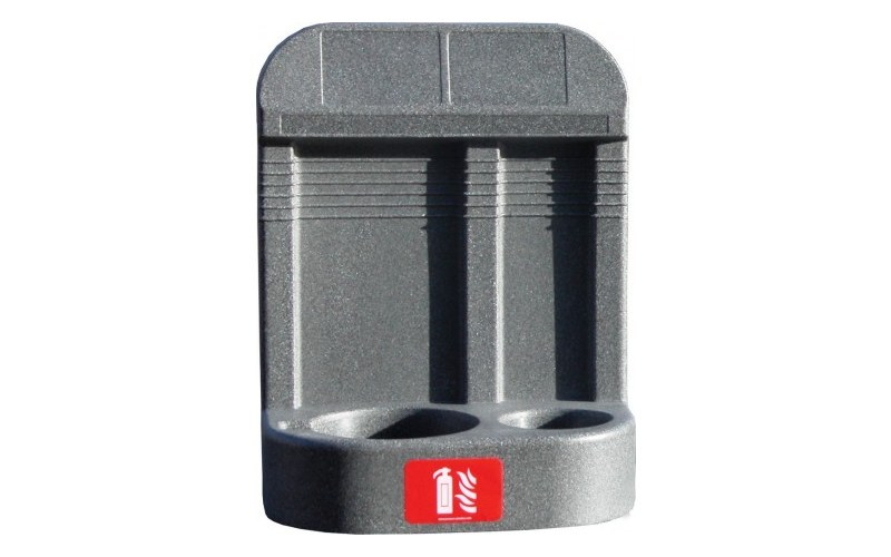 Double Grey Extinguisher Stand With Recessed Base (HS26/GREY)