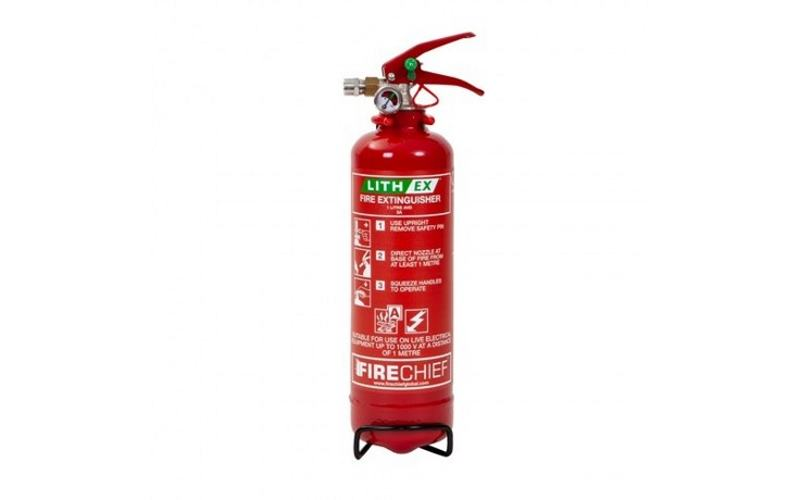 1Ltr (Lith-Ex) Lithium Battery Fire Extinguisher