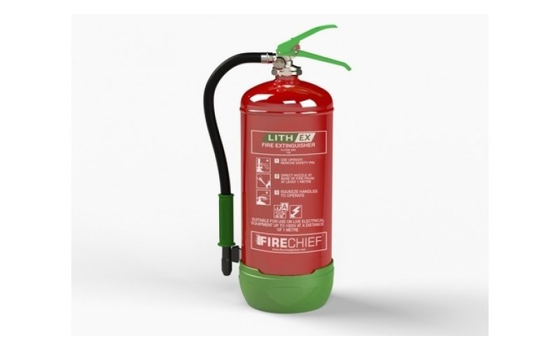 6Ltr Lithium Battery Fire Extinguisher (Lith-Ex)