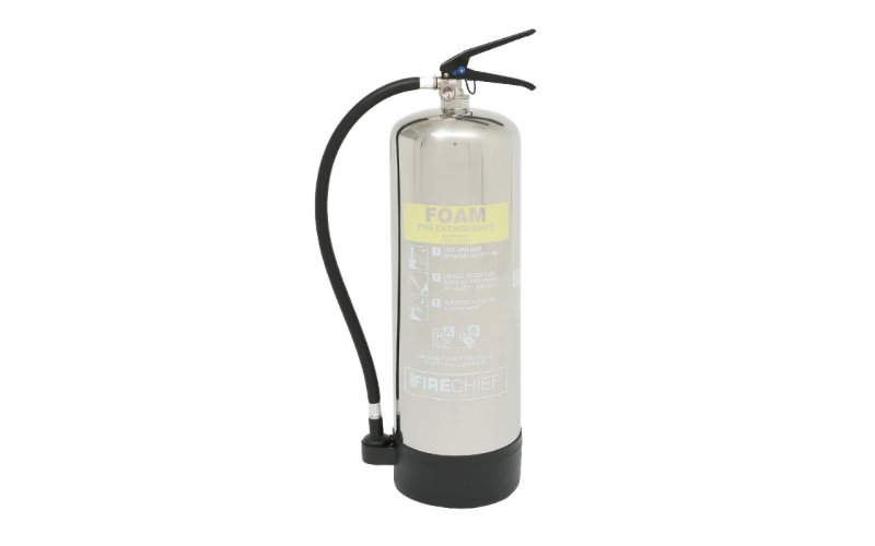 Firechief Elite 9ltr Foam Stainless Steel Fire Extinguisher