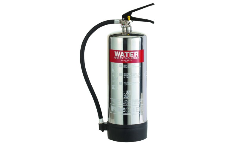 Firechief Elite 6ltr Water Stainless Steel Fire Extinguisher