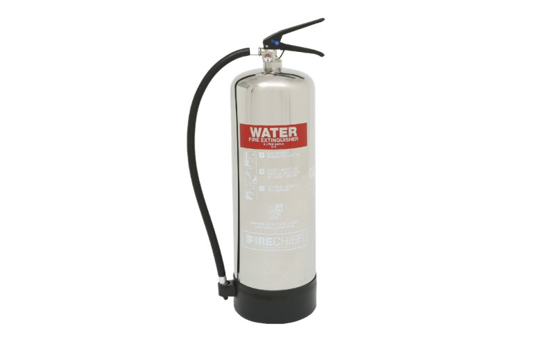 Firechief Elite 9ltr Water Stainless Steel Fire Extinguisher