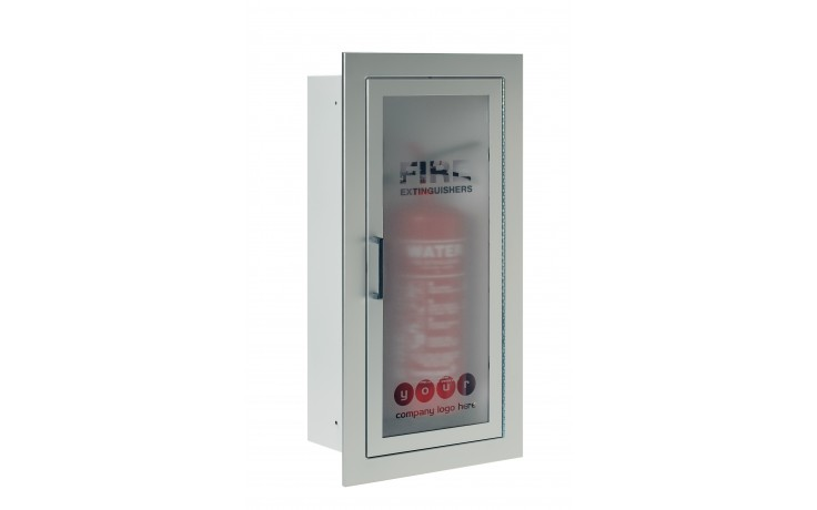 Architectural Extinguisher Cabinet Fully Recessed White Steel