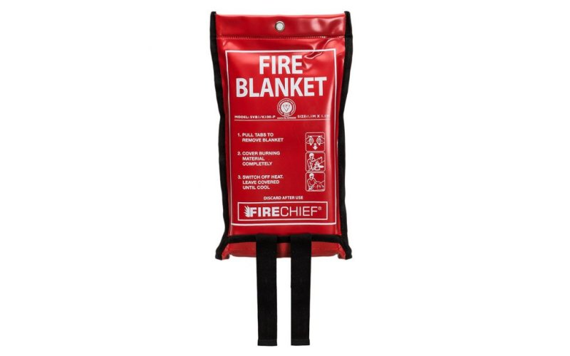 Domestic Fire Blanket in Soft Case 1.1m X 1.1m