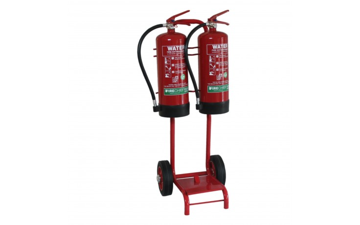 Double Extinguisher Trolly with Bucket Bracket